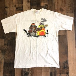 Crazy Shirts Hawaii B Kliban Cat Hippy/Businessman